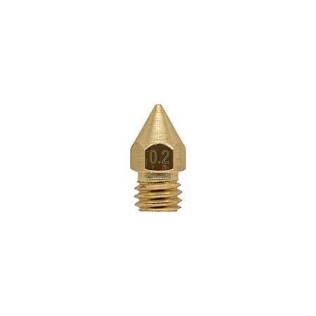 Nozzle Bico Hotend 3.0mm M6 0.2mm 3D Printer