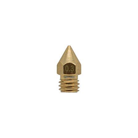 Nozzle Bico Hotend 3.0mm M6 0.3mm 3D Printer