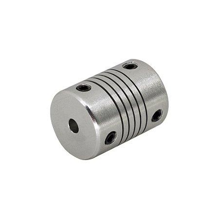 Acoplamento Flexível 4mm x 4mm Motor de Passo CNC 3D Printer