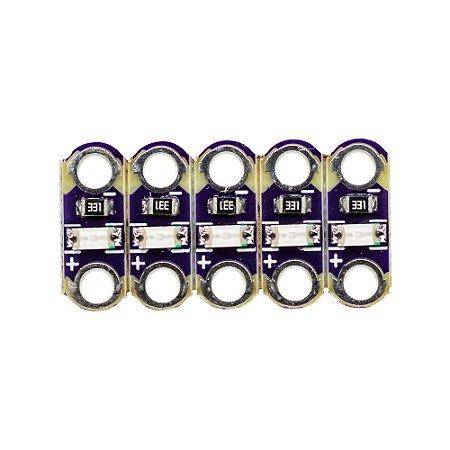 Mini Módulo de Luz LED SMD Lilypad 5 Unidades (Vermelho)