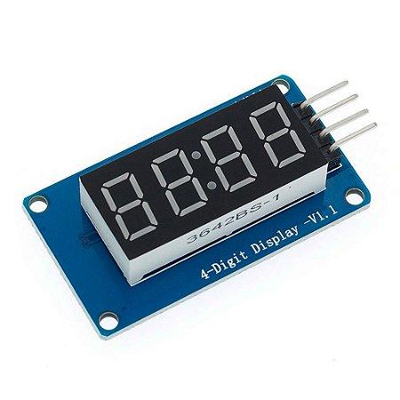 Módulo Display 7 Segmentos 4 Dígitos TM1637