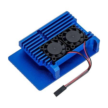 Case Raspberry Pi 4 Armor Case Alumínio Azul