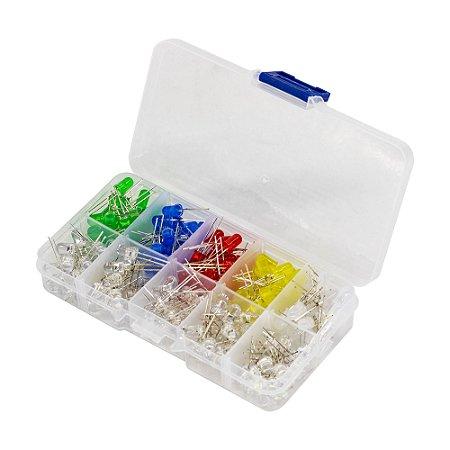Kit LED 5mm Difuso/Alto brilho 200 LEDs + Case