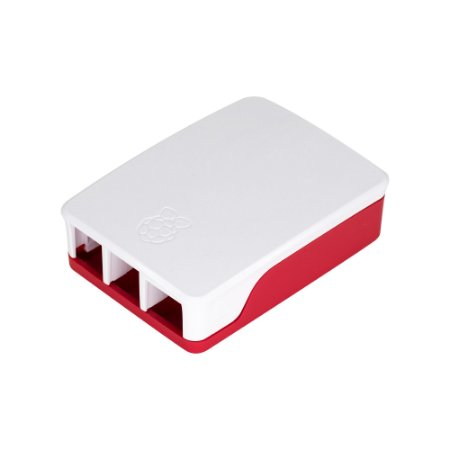 Case Raspberry Pi 4 Foundation Branco e Vermelho