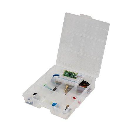 Kit Raspberry Pi Pico Protoboard + Componentes + Case