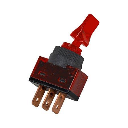 Chave Alavanca ASW-14D c/Neon - 12V (Vermelho)