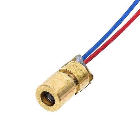 Diodo Laser 650nm 5mV 5V 6mm