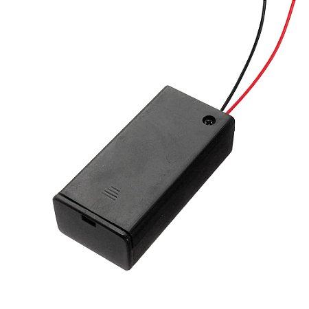 Suporte Bateria 9V Fechado com Chave ON/OFF