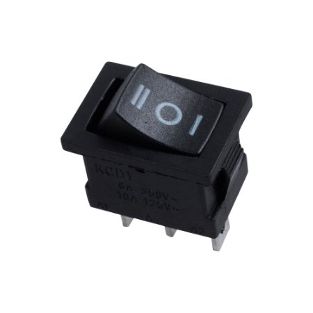 Chave Gangorra KCD1-103/B2 3P ON-OFF-ON (Preto)