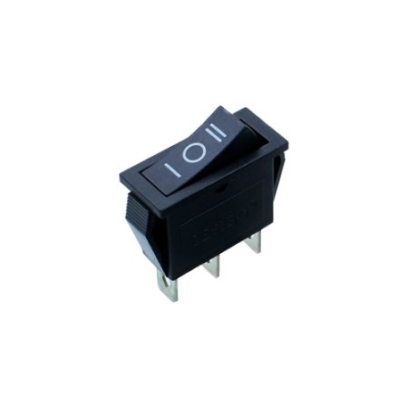 Chave Gangorra KCD3-103 3T ON-OFF-ON (Preto)