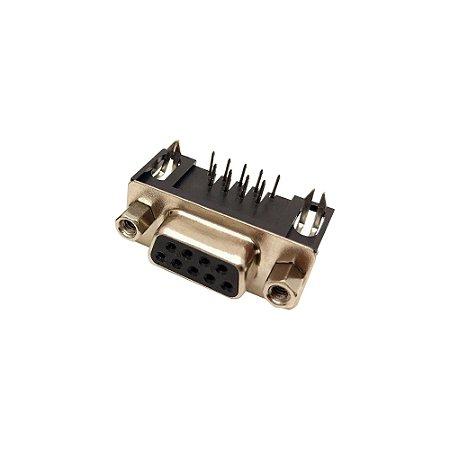 Conector DB9 90 Graus D-Sub PCB (Fêmea)