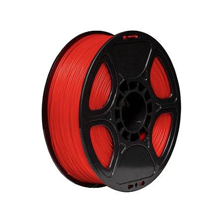 Filamento Impressoras Voolt3D PLA 1Kg 1,75mm Vermelho Translúcido