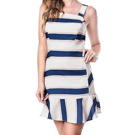 Vestido Recortes - Listras