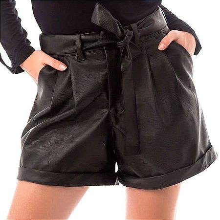 Shorts Leather - Preto