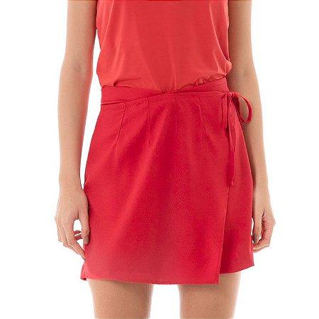 Shorts Sofisticati com Transpasse - Vermelho