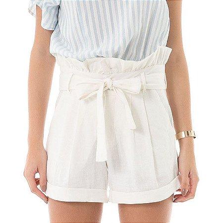 Shorts Linho - Off-white