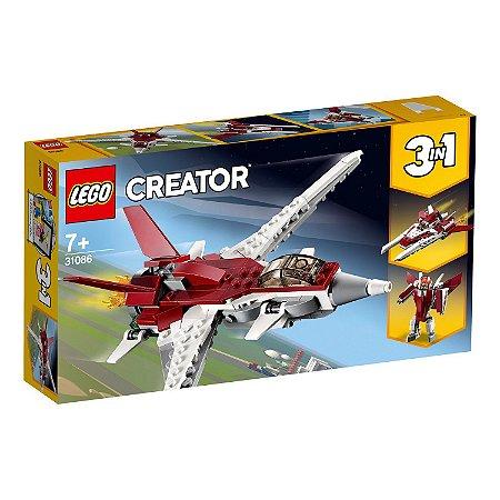 Blocos de Montar Lego Creator Aviao Futurista 3 em 1 31086