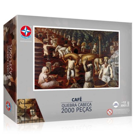 Quebra Cabeça Puzzle Portinari Cafe 2000 peças Estrela