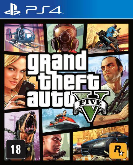 Jogo Mídia Física Grand Theft Auto V Original Para Ps4