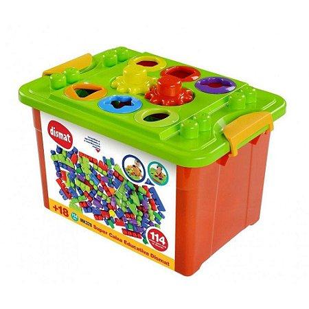 Brinquedo Bloco De Montar Super Caixa Educativa Dismat Mk328