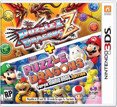 Jogo Puzzle E Dragons Z + Puzzle Dragons Super Mario Pra 3ds