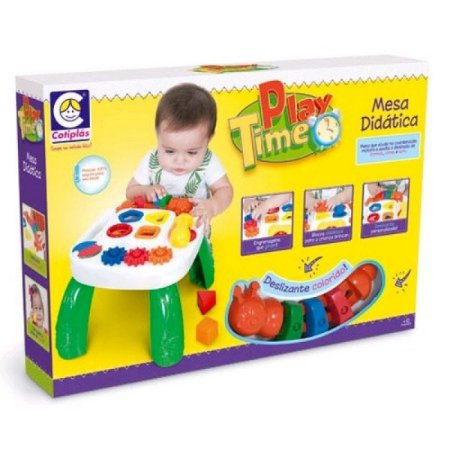 Mesa de Atividades Didática Infantil Play Time Cotiplás