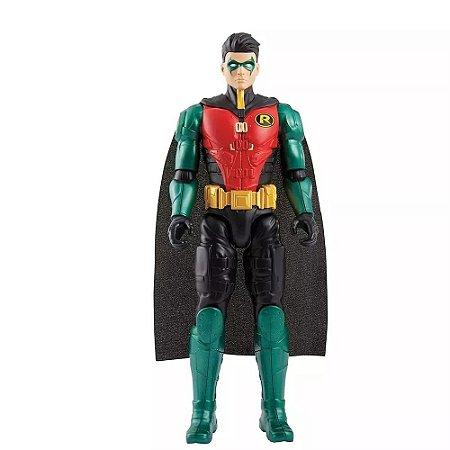 Boneco Batman Missions Robin 30cm Mattel DC FVW71 FVW69