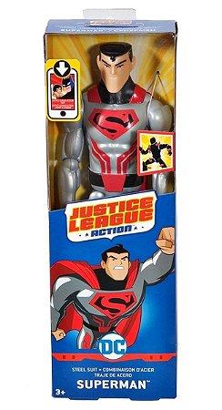 Boneco Liga da Justiça Action Superman Armadura 30 cm Mattel