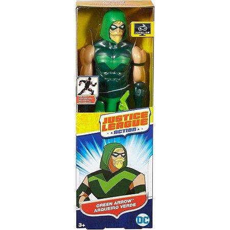 Boneco Liga da Justiça Action Arqueiro Verde 30 cm Mattel