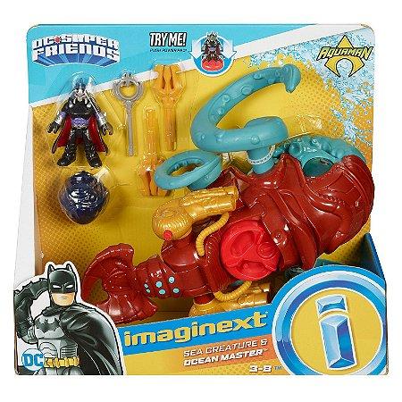 Imaginext Aquaman Criatura Marinha e Mestre Do Oceano FMX67