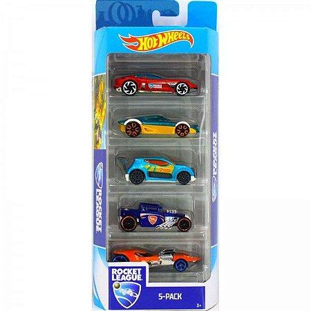 Carrinhos Hot Wheels Pacote com 5 Carros Rocket League Fyl23