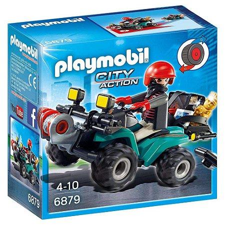 Novo Playmobil City Action Fugitivo com Quadriciclo 6879