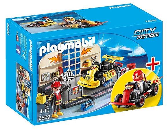 Brinquedo Playmobil City Action Oficina De Kart 6869 Sunny
