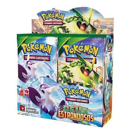Novo Box Boosters Pokemon XY Ceus Estrondosos Pokemon Tcg