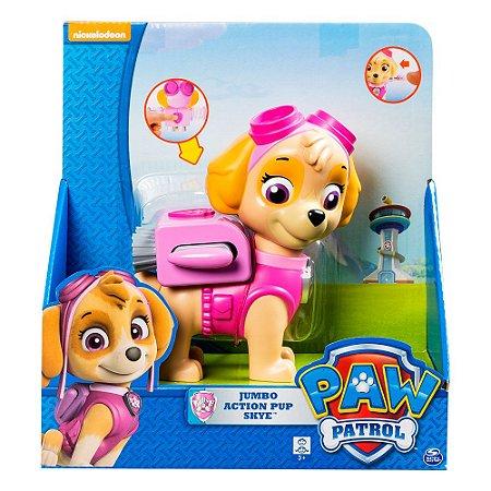 Boneco Patrulha Canina Jumbo Action Pup Skye 1312
