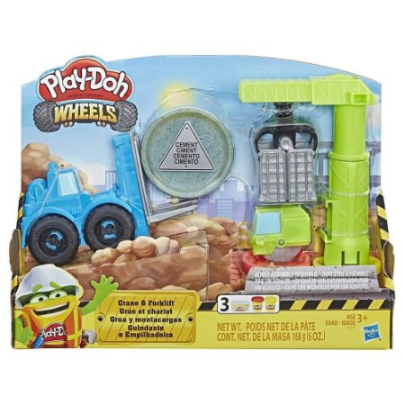 Massinha Play-Doh Wheels Conjunto Guindaste e Empilhadeira