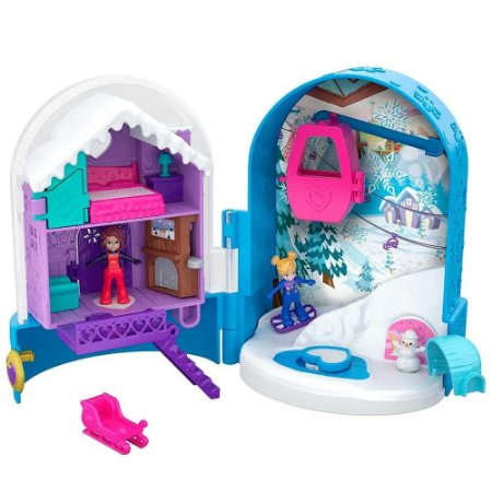Polly Pocket Mundo de Aventura Bola De Neve Surpresa Mattel