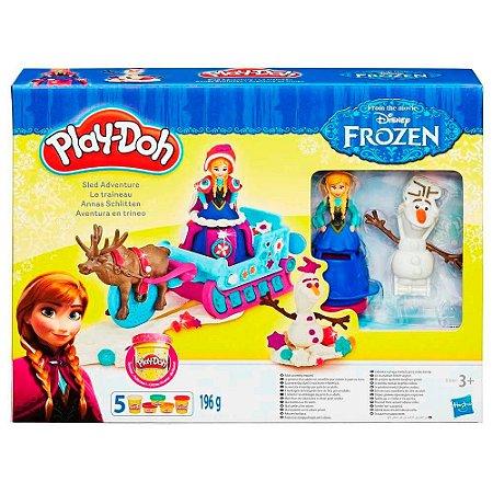 Brinquedo Play Doh Frozen Olaf Aventura Treno Hasbro B1860