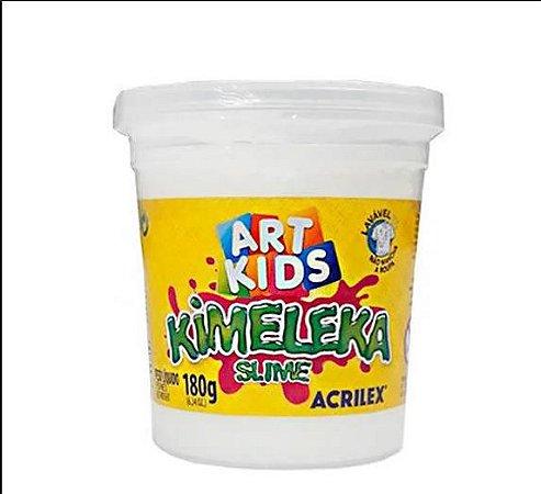 Brinquedo Slime Slyme Kimeleka Branco Acrilex
