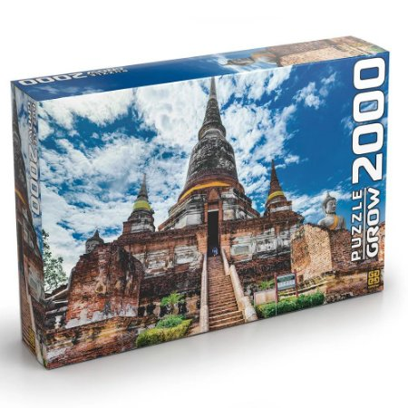 Novo Quebra Cabeça Grow 2000 Peças Templo Tailandes 03461