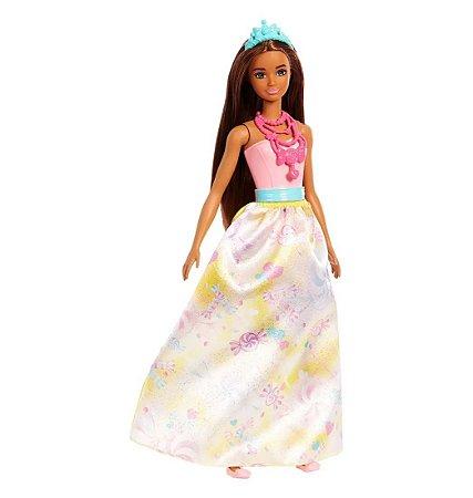 1020f0c82 Nova Boneca Barbie Dreamtopia Princesa Negra Mattel Fxt13 - Magazine ...