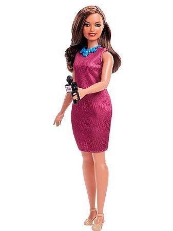 Nova Boneca Barbie Quero Ser 60 Anos Jornalista Mattel Gfx23