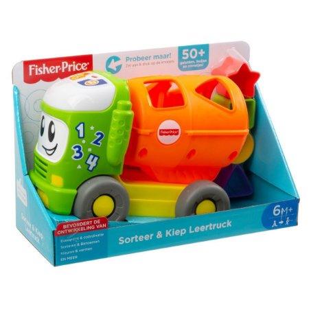 Novo Caminhao Educativo com Sons e Luzes Fisher Price Gfj45