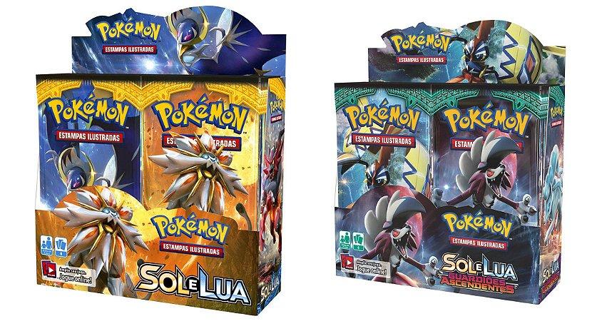 Combo Box Booster Pokemon Sol E Lua 1 + Sol E Lua 2