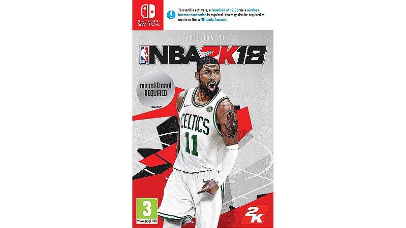 Jogo Mídia Física Original NBA 2K18 Para Nintendo Switch