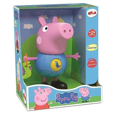 Brinquedo Infantil George com Atividades Peppa Pig Elka 1098