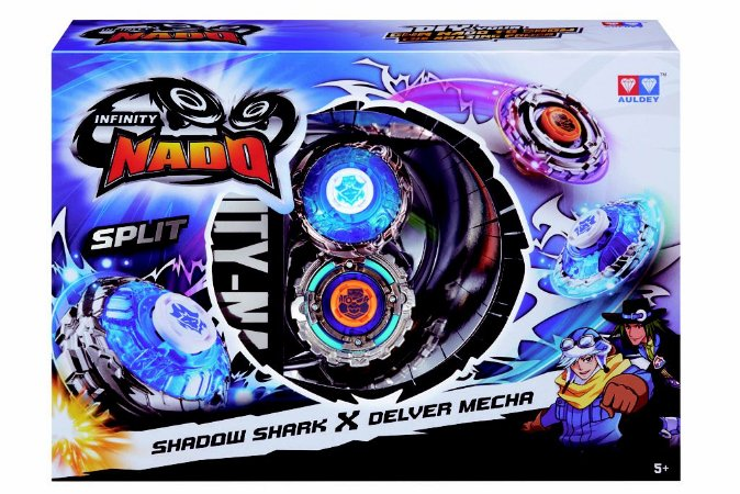 Novo Infinity Nado Shadow Shark e Delver Mecha Candide 3903