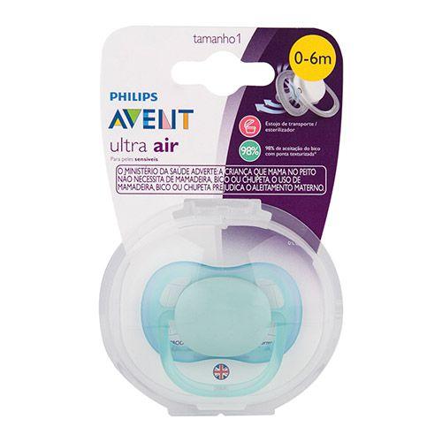 Chupeta Avent Ultra Air Azul Single 0-6 Meses 5206