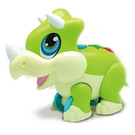 Brinquedo Junior Magasaur Tricerátopo Baby Musical Fun 84357