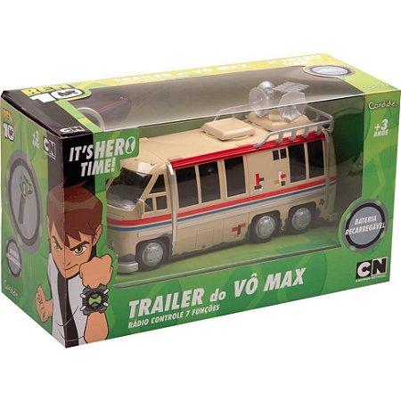 Brinquedo Ben 10 Trailer Do Vô Max Controle Remoto Candide